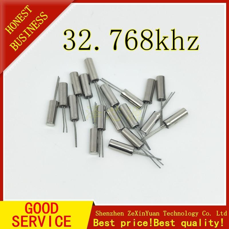 200 Uds 32.768KHz 32.768 KHZ 32.768 K frecuencia resonador oscilador cuarzo cristal Cylender 2*6mm