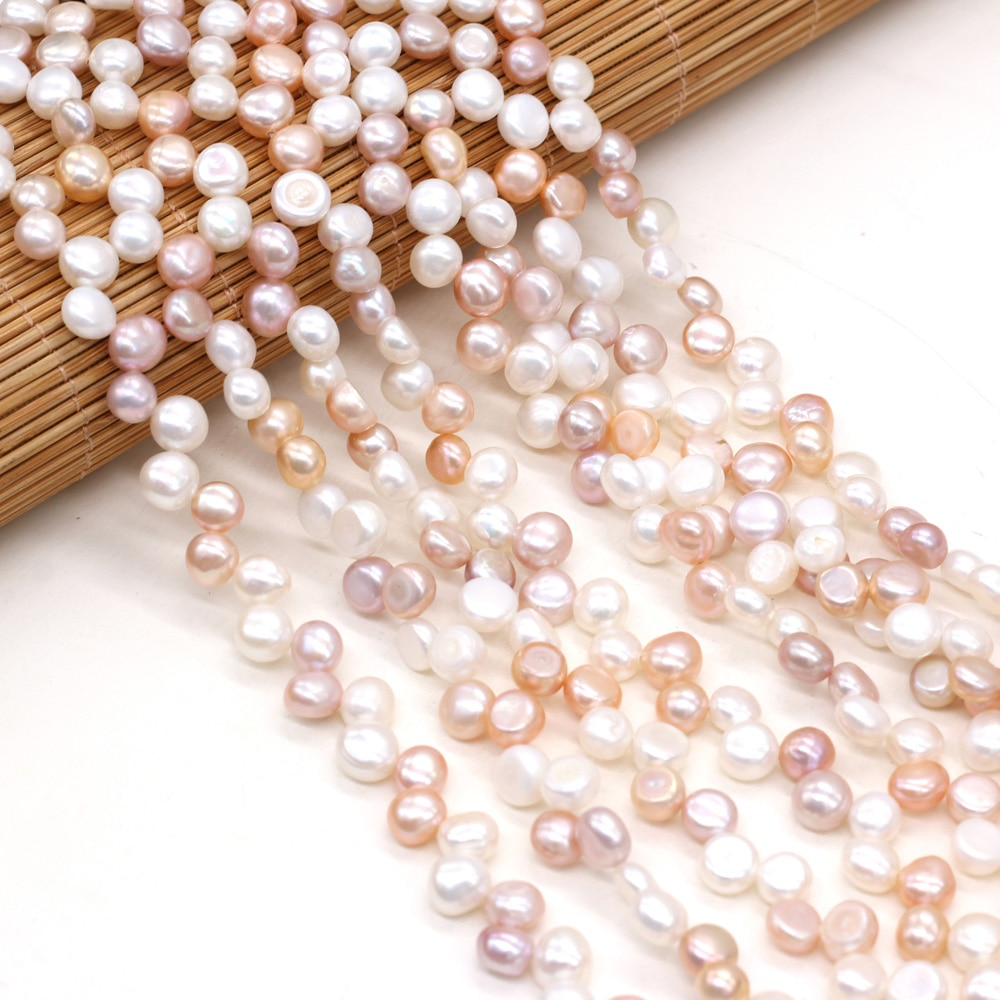 7-8mm Irregular Freshwater Pearl Beads Natural Pearls for Women DIY Necklace Bracelet Earring Jewelry Making 14''  - buy with discount