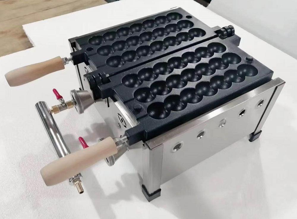 ماكينة وافل على شكل سيخ كهربائية تعمل بالغاز ، وافل على شكل رذاذ ، حديد وافل ، شواية كرة تاكوياكي