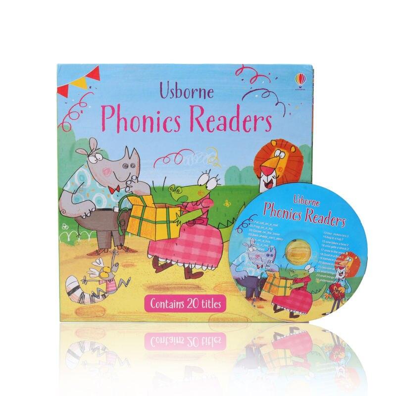 Usborne Phonics Readers Boxset Span 20 Book Set English Story Book Children's Educational Toys New Hot WXICQ