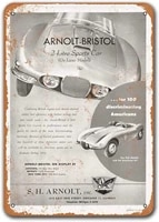 1954 arnolt bristol sports car car tin signs vintage sisoso metal plaques poster garage bar retro wall decor 12x16 inch