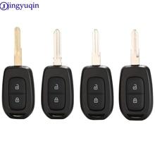 jingyuqin 2/3 Buttons Remote Car Key Shell for Renault Sandero Dacia Logan Lodgy Dokker Duster 2016