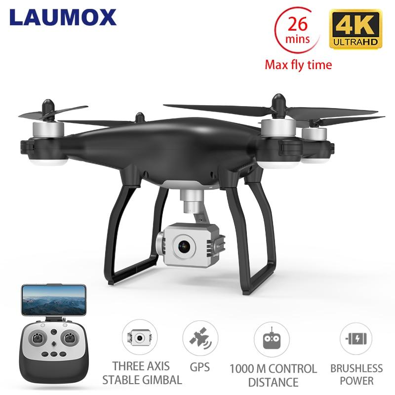 LAUMOX X35 Drone GPS WiFi 4K HD cámara profesional RC Quadcopter sin escobillas Drones de Motor cardán estabilizador 26 minutos de vuelo