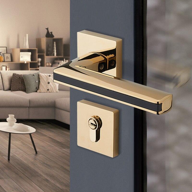 الحديث المنزلية كتم Lockset سبائك الزنك الصامت سبليت قفل باب مقبض الباب الداخلي قفل الأثاث إكسسوارات الأجزاء الداخلية للكمبيوتر