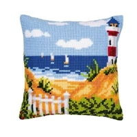 latch hook kits pillow landscape diy handmade printed canvas cushion latch hook kits diy unfinished accessories
