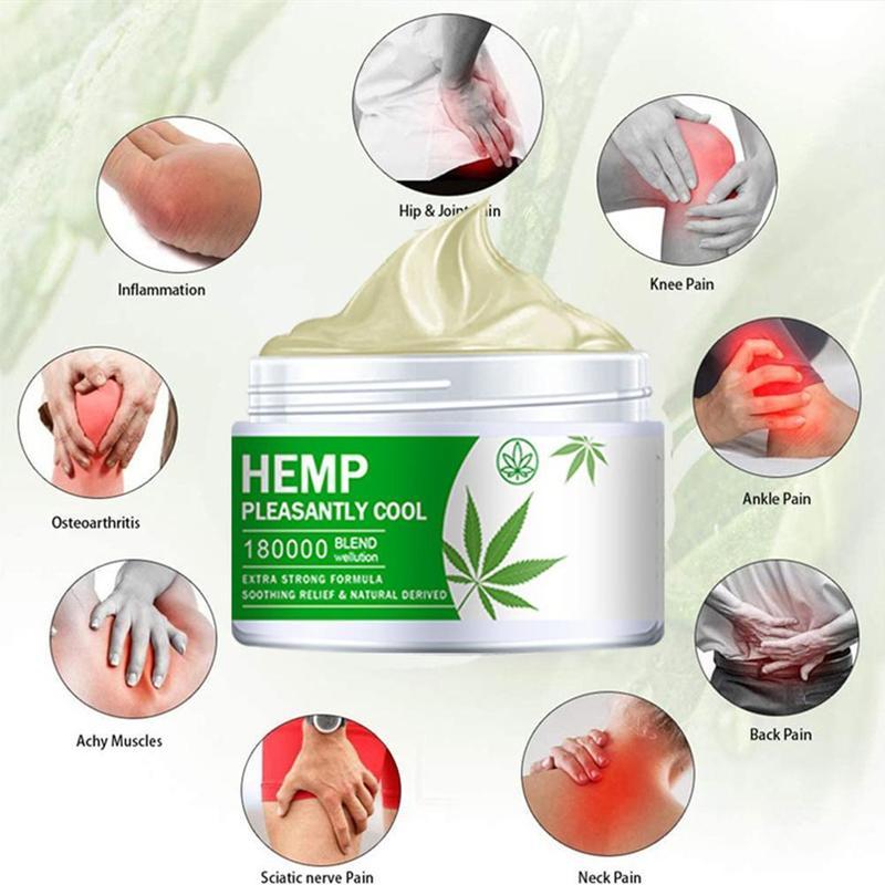Hemp Balm Ointment Rheumatism Arthritis Relieve Muscle Pain Neck Back Shoulder Body Pain Hemp Cream недорого