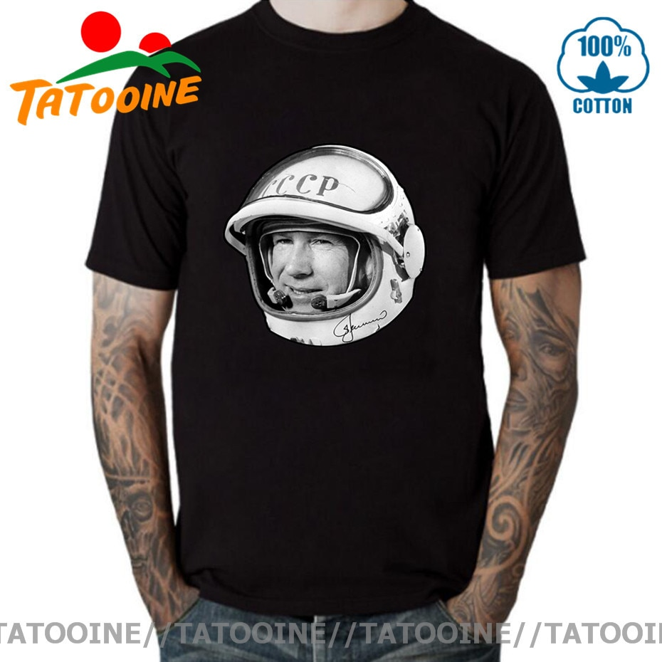 Tatooine Russian CCCP Space Astronaut Alexei Leonov T shirt Russia USSR Hero Funny T-shirt Soviet Union Space Programme Tee Tops