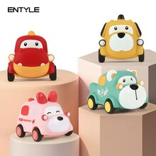 Small Cartoon Car Toys For Children Soft Toy Cars For Baby Boys Kids Toys Vehicles Car Montessori  E