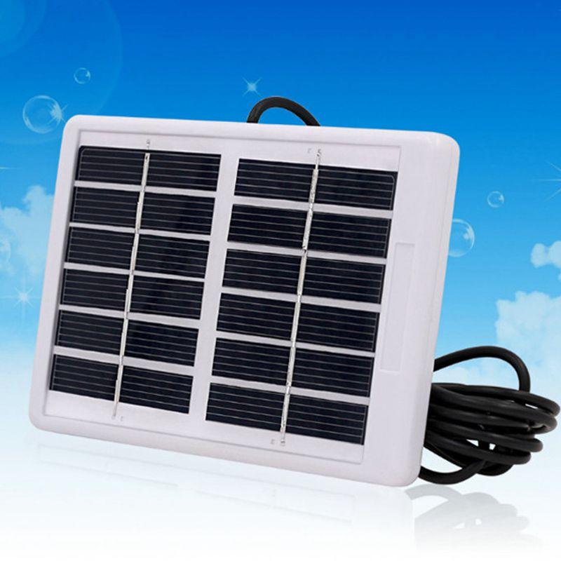 Venta al por menor 6V 1,2 W Panel Solar policristalino Módulo de célula Solar duradero cargador impermeable luz de emergencia Camping