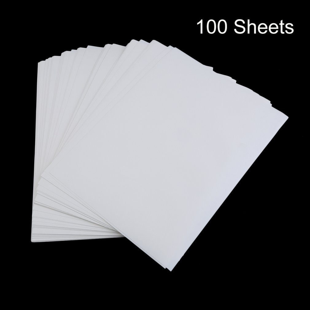 100 papiers dimpression par Sublimation, format A4, pour thermocollage sur T-Shirt en coton Polyester, accessoire de transfert dimpression