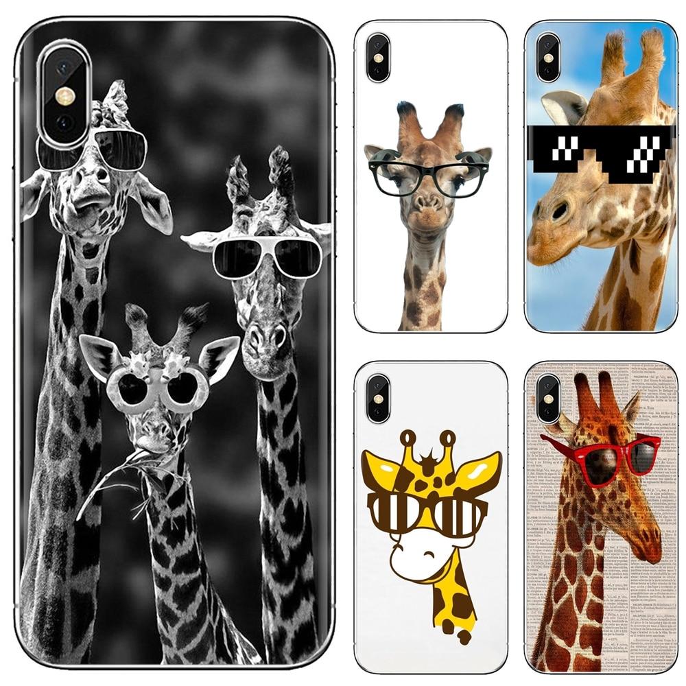 Sunglasses Giraffe spectacles Animal Silicone Cover For Samsung Galaxy J1 J2 J3 J4 J5 J6 J7 J8 Plus