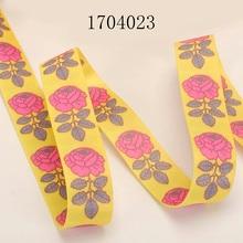 Phone Strap Lanyard 50 Yards 20mm/25mm Grosgrain Ribbon Floral Series Printed for Camera Phone Wrist Lanyard Neck Strap