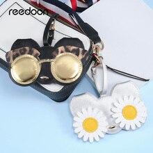 Reedoon étui en cuir PU pour femmes   Sac pour lunettes et lunettes multi-fonction dessin animé mignon, sac de Protection pour les yeux