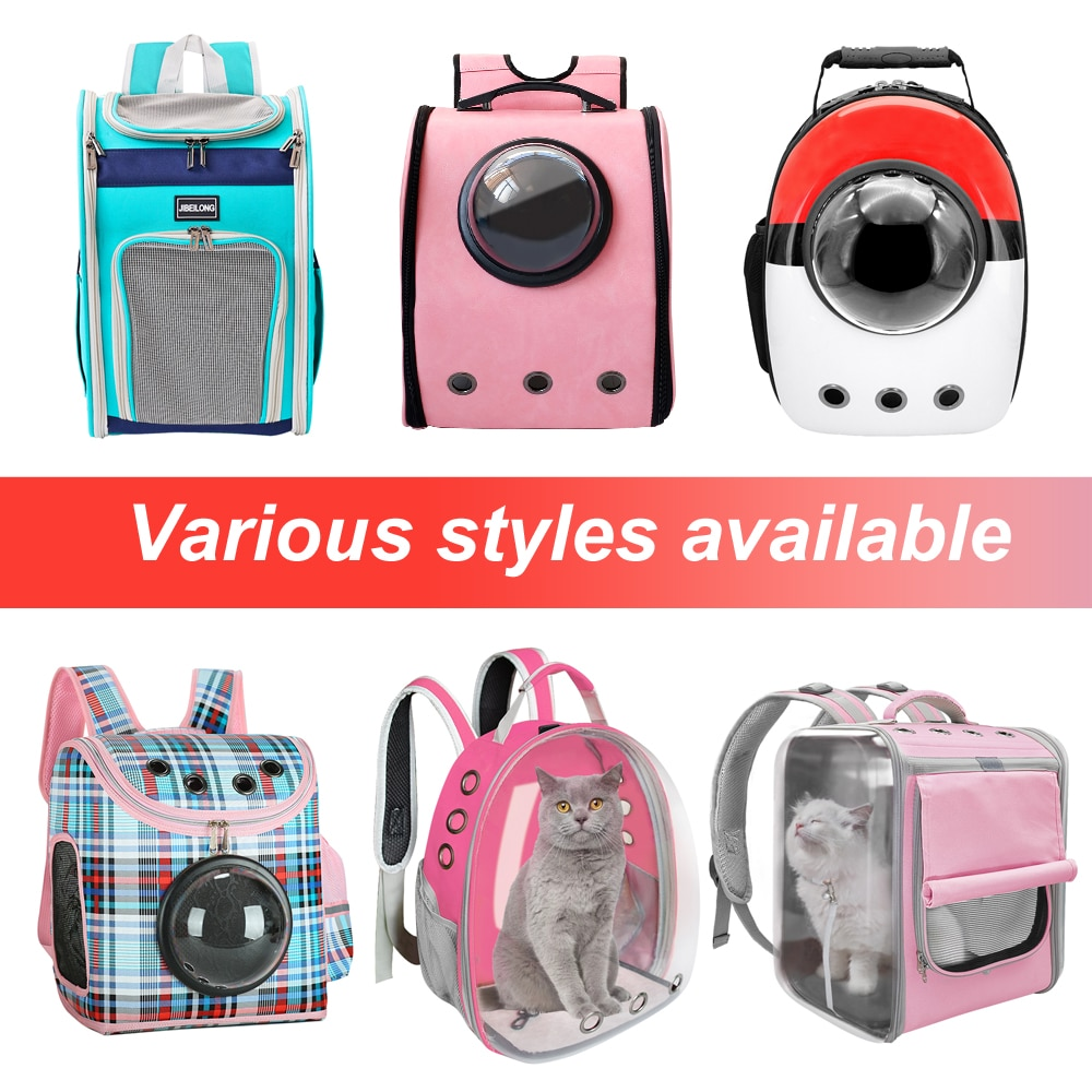 Portable Dog Cat Carrier Bag Breathable Space Capsule Astronaut Travel Bag Transparent Outdoor Small Cat Carrier Pet Backpack