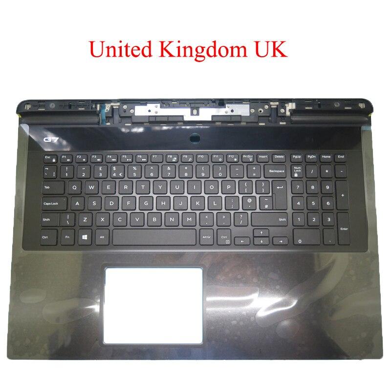 المملكة المتحدة المملكة المتحدة Palmrest لديل G7 17 7790 0YW0N 0YW0N 0V9YCJ V9YCJ 06WFHN 6WFHN 089TFP 89TFP 0V9YCJ V9YCJ لوحة المفاتيح