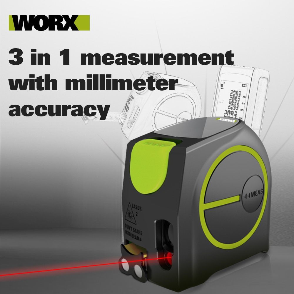 Worx Laser Distance Meter WE085 40M Rangefinder Electronic Roulette Laser Digital measure trena metro Laser Tape Rangefinder enlarge