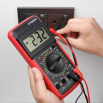Цифровой мультиметр DT9205A, профессиональный измеритель переменного/постоянного напряжения, тестер транзисторов, Ом, hFE, емкость DMM, электрические инструменты Мультиметры      АлиЭкспресс
