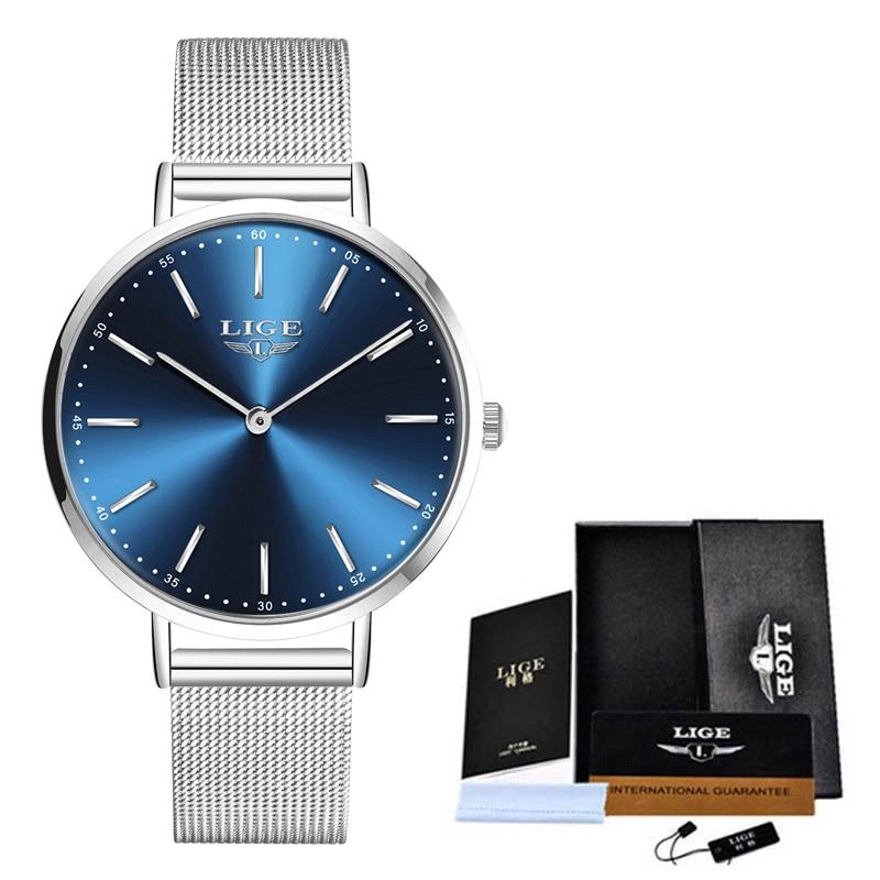 LIGE Brand Luxury Women Watches Women Fashion Watch 2020 Creative Simple Ladies Watch Bracelet Waterproof Clock Relogio Feminino enlarge