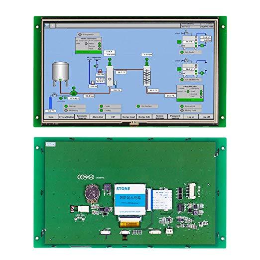 Pantalla táctil gráfica LCD de nuevo producto de 10,1 pulgadas con interfaz RS232/TTL/USB para sistemas de Control de automatización