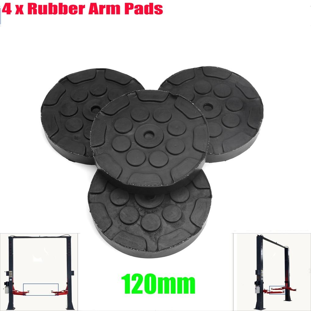 4pcs Universal Round 120mm Rubber Arm Pads Auto Jacking Lift Car Truck Hoist Pads enlarge