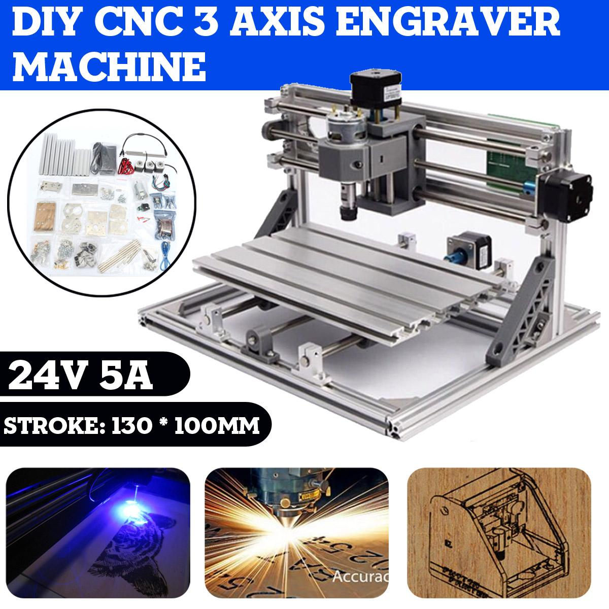 Enrutador CNC DIY, grabador de 3 ejes, máquina de grabado, fresadora de PCB, enrutador de tallado de madera, máquina de grabado láser para tablero Grbl
