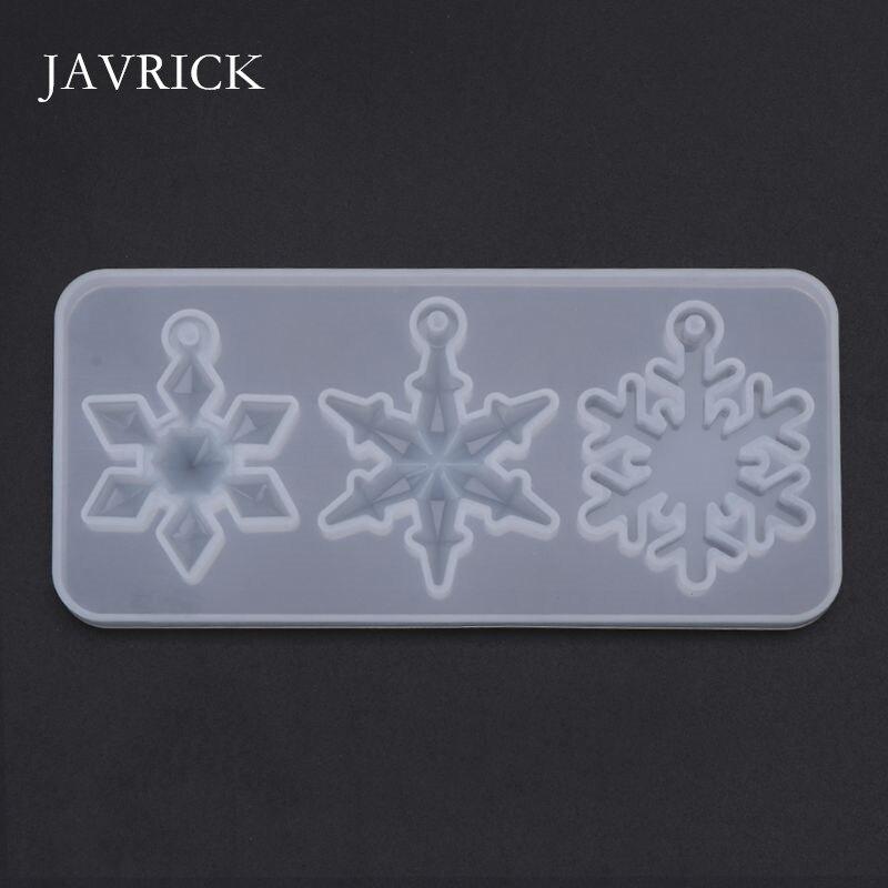 Molde de silicona espejo DIY copo de nieve artesanías hechas a mano resina epoxi regalos moldes sílice DIY colgante collar fabricación de joyas