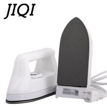 JIQI 110V/220V Mini taşınabilir elektrikli ütüler zanaat sıcak düzeltme yapay elmas demir giysi konfeksiyon Flatiron seyahat kuru ütü makinesi ab
