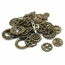Mix 50 adet Vintage steampunk takılar dişli kolye antik bronz Fit bilezikler kolye DIY Metal takı yapımı