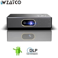 WZATCO     MINI projecteur intelligent S5 DLP 3D  Android  4K  5G  WIFI  pour Home cinema  Full HD  1080P