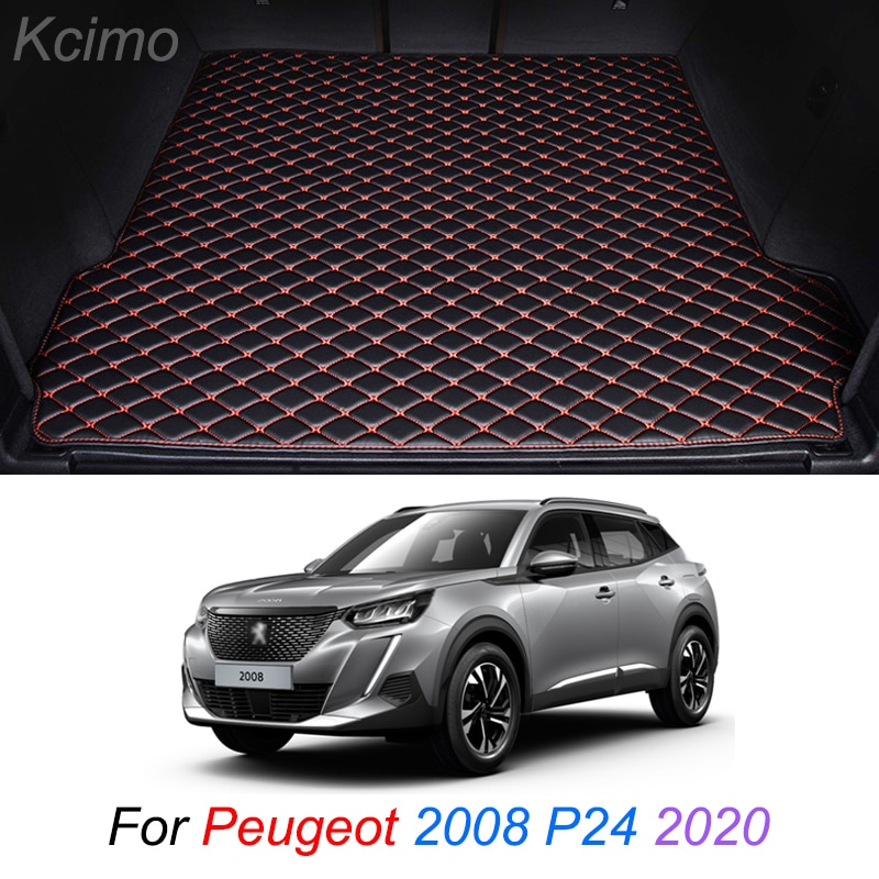 The Trunk Floor Leather Liner Car Trunk Mat Cargo Compartment Floor Carpet For Peugeot 2008 P24 2020