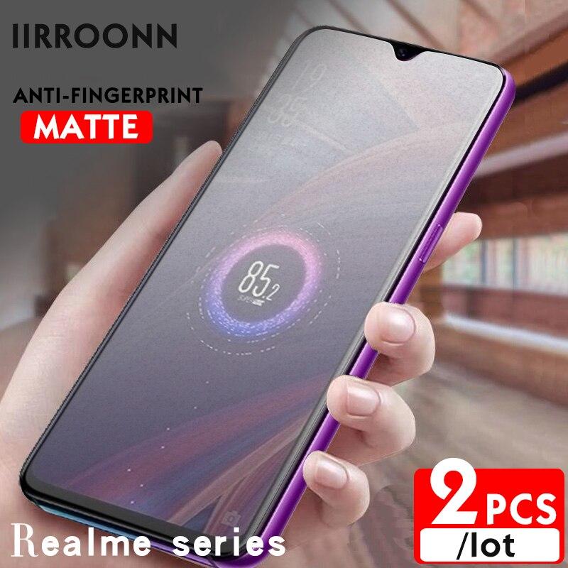 2Pcs/lot Matte Tempered Glass For Realme X2 XT Q Screen Protector For Realme 3 5 pro realme 5 6 7i Glass for realme X2pro C3 C20
