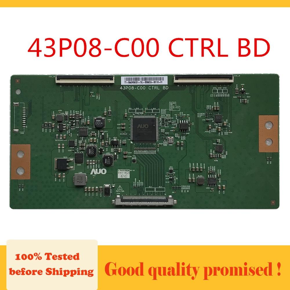 43P08-C00-بطاقة عرض T-con CTRL BD ، المعدات الأصلية للتلفزيون ، لوحة منطق الأعمال ، 43P08 C00 T
