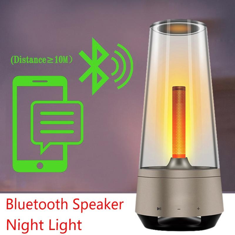 مكبر صوت بلوتوث مع ضوء ليلي وموسيقى ، جودة عالية ، بطارية مدمجة ، سعة 1000 مللي أمبير ، إضاءة مزاجية ، مصباح إبداعي