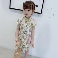 1 6t summer new girls dresses floral baby girl weding party dress children chinese traditional cheongsam costume qipao outfits