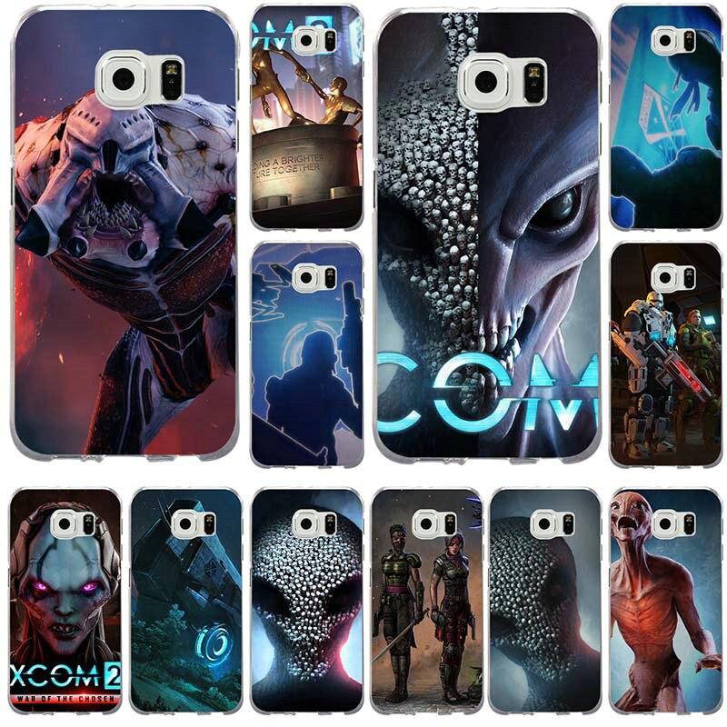De moda de XCOM 2, para Samsung Galaxy nota 2 3 4 5 8 S2 S3 S4 S5 Mini S6 S7 S8 S9 Edge Plus suave funda de silicona del teléfono del TPU del caso