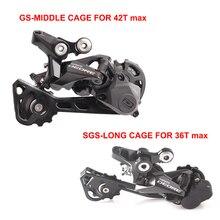 SHIMANO DEORE RD M6000 10 velocidades GS/SGS largo/medio jaula MTB bicicleta cambio trasero
