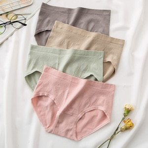 New Products High Waist Underwear Large Size Belly Holding Buttock Lifting Cotton Crotch Breathable WOMEN'S Nickers