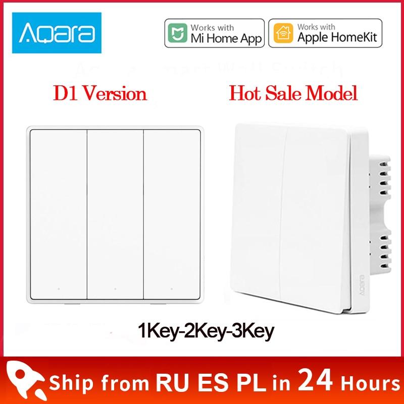 Xiaomi Aqara Wall Switch D1 ZigBee Smart Light Remote Control Wireless Key Zero Line Fire Wire NO Ne