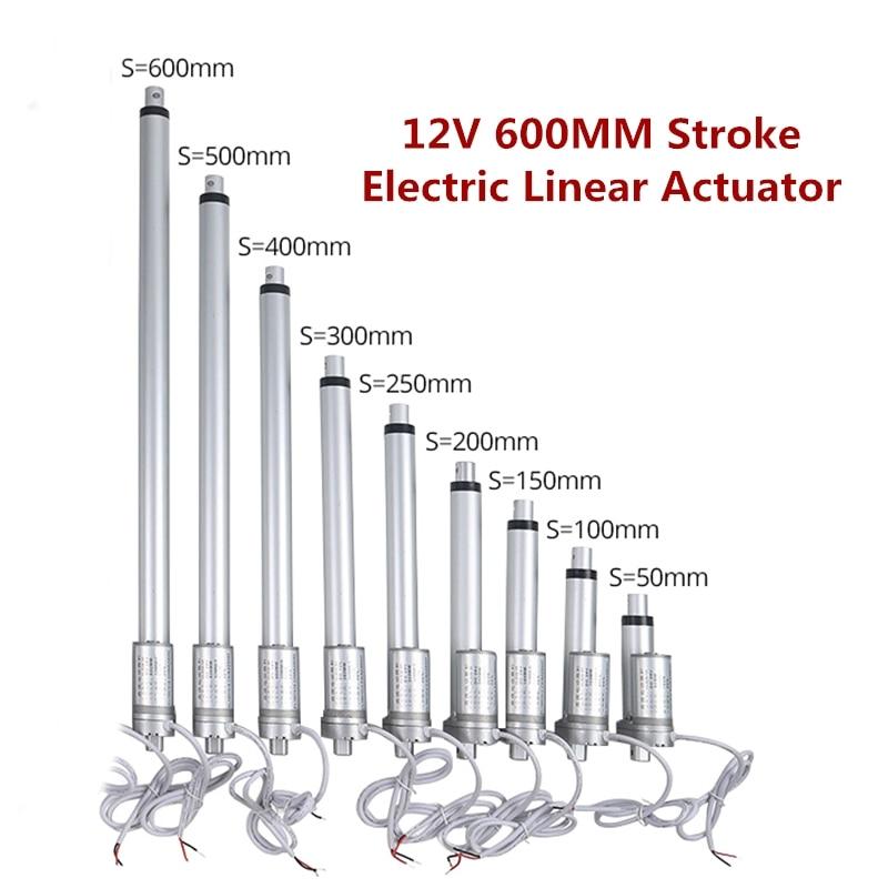 12V 600 مللي متر السكتة الدماغية الكهربائية المحرك الخطي المسافة تتحرك ميتال جير الخطي تحكم DC لباب المرآب نافذة مفتوحة