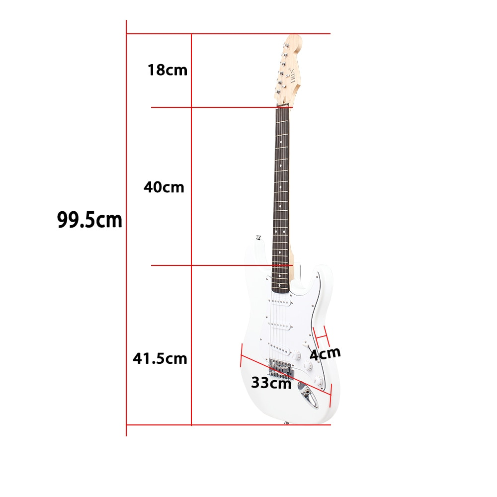 ST Electric Guitar 39 Inch 6 String 21 Frets Basswood Body Electric Guitar Guitarra With Speaker Guitar Parts & Accessories enlarge