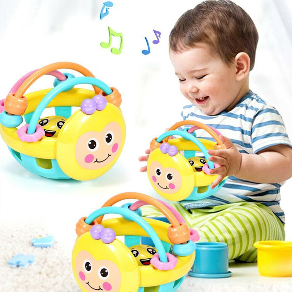 Baby Rattle Toy Newborn Baby Toys Cartoon Animal Little Bell Bee Biting Toddler Bed Teeth Babies Infant Educational Toys Ea V7N3
