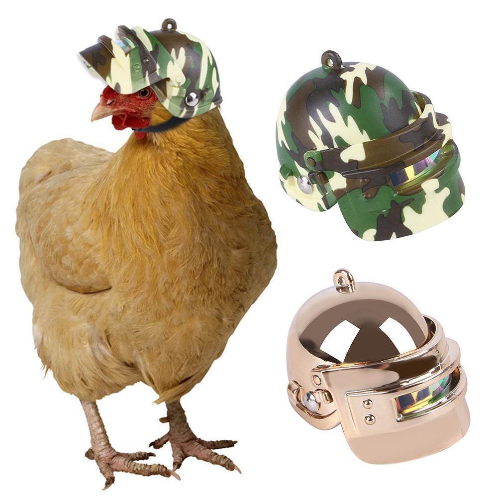 1 Pcs Pet Helm Lustige Huhn Helm Kopf Schutz Kompakte Huhn Huhn Harte Hut Vogel Kopf Helm Pet Liefert Pet helemt