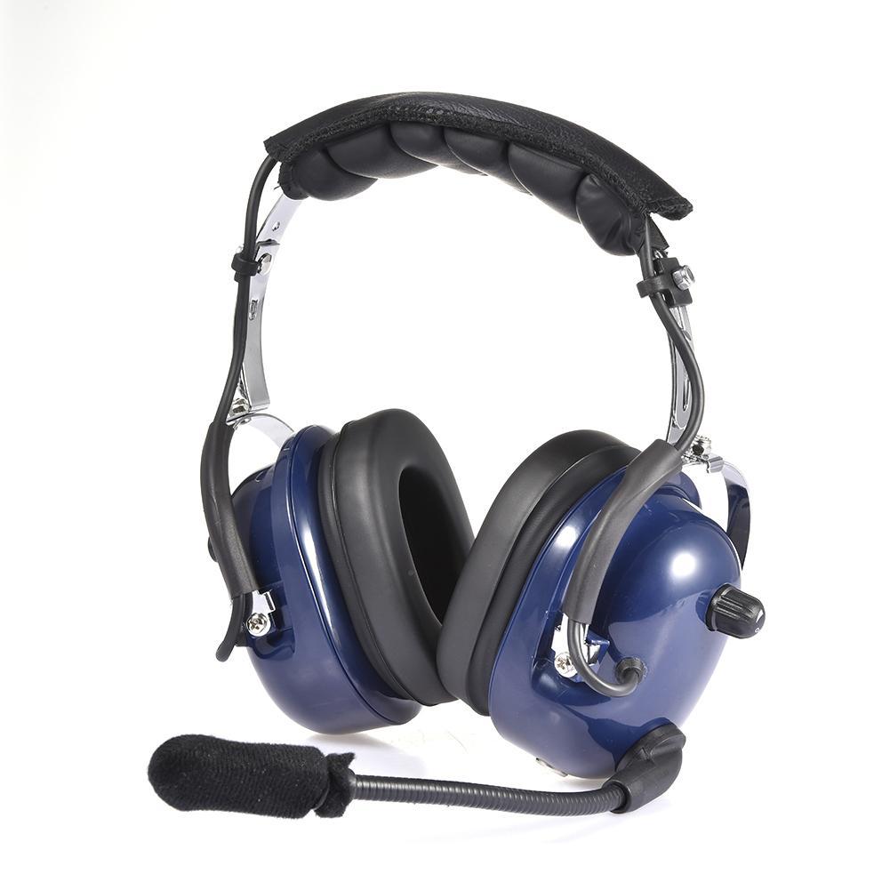 سماعات رأس لاسلكية للطيارين ، تقليل الضوضاء ، مقبس مزدوج GA ، MP3 ، مع ميكروفون ، أختام الأذن