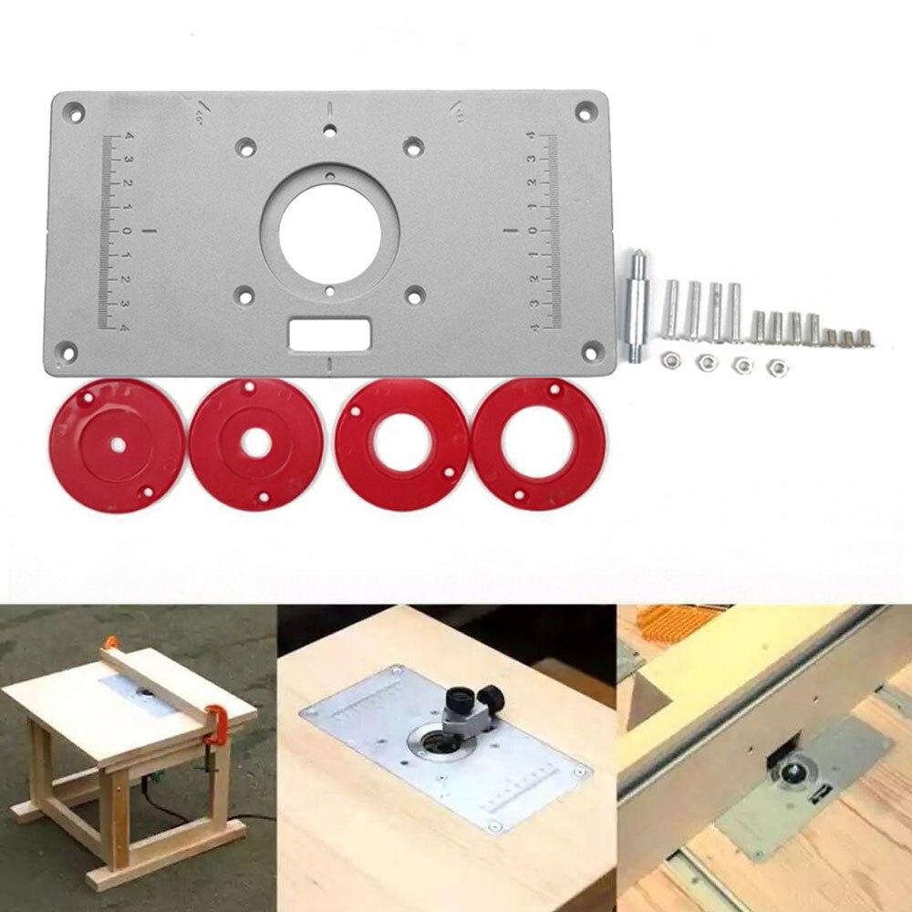 Fresadora de aluminio multifuncional, placa de inserción de mesa, bancos de carpintería, fresadora de madera, modelos de recortadora, máquina de grabado