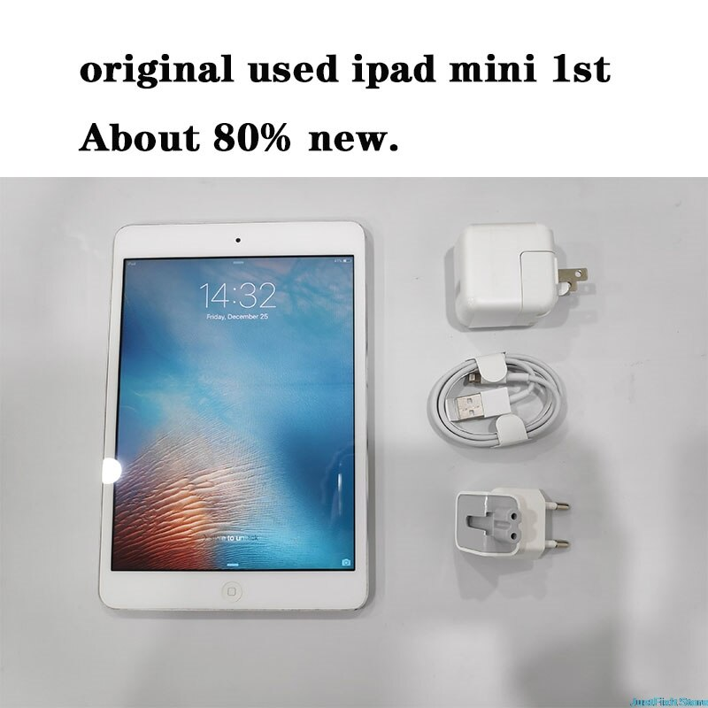 "Original usado apple ipad mini 1st 7.9 ""2012 16gb prata preto 80% novo 100% teste bom trabalho"