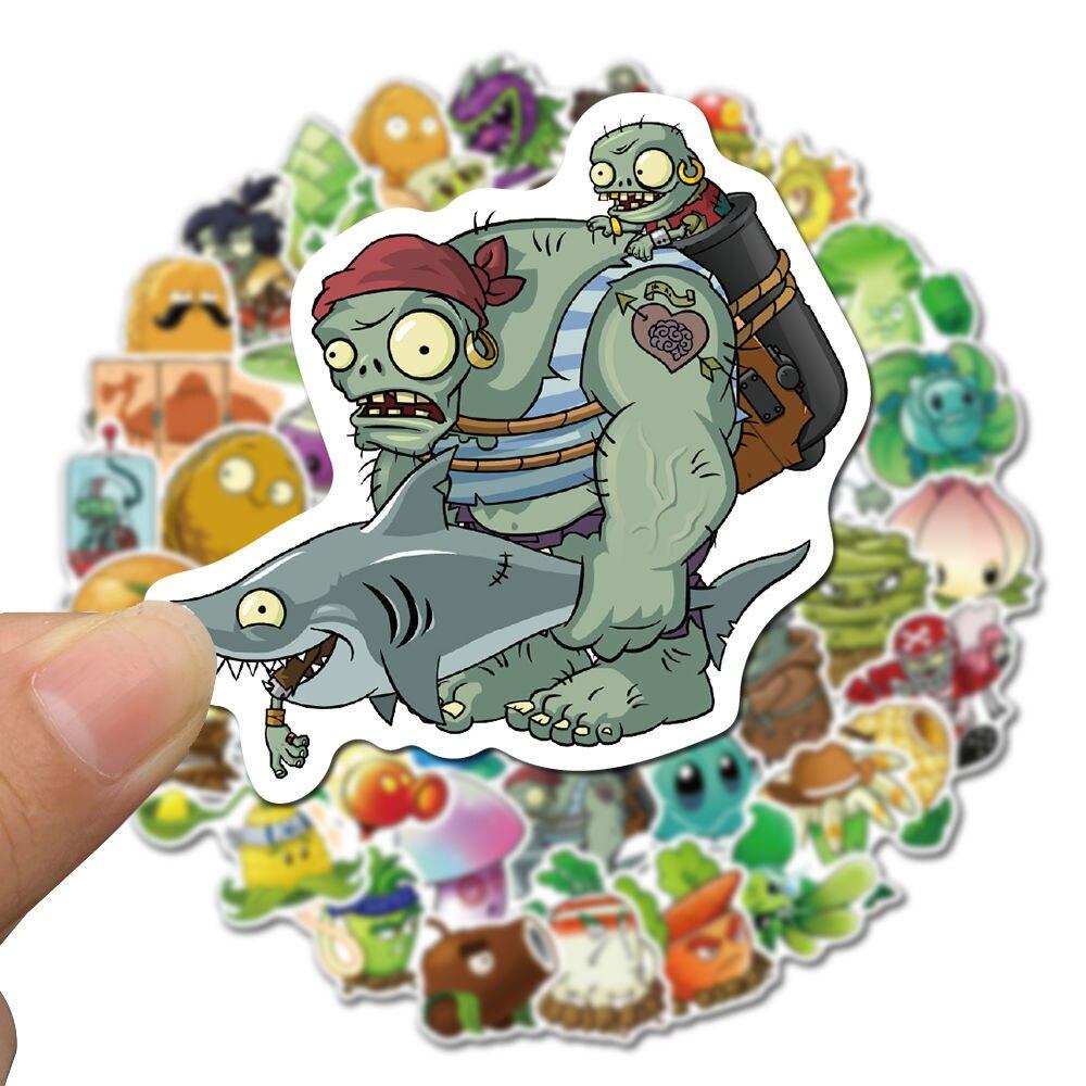 Наклейки 50 неповторяющихся игр «Растения против Зомби»