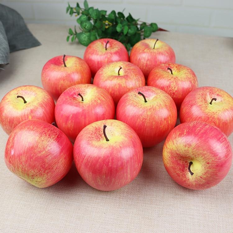 Искусственные фрукты, яблоко, пластиковые искусственные красные яблоки, фото реквизит для дома, искусственные сортовые зеленые яблоки, мод...