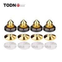 4 sets speakers stand feet foot pad pure copper gold loudspeaker box spikes cone floor foot nail m2826