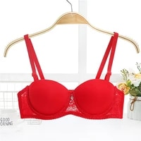 sexy lace lingerie bra for women ultra thin half cup smooth comfortable bra small cup push up bra fir girl