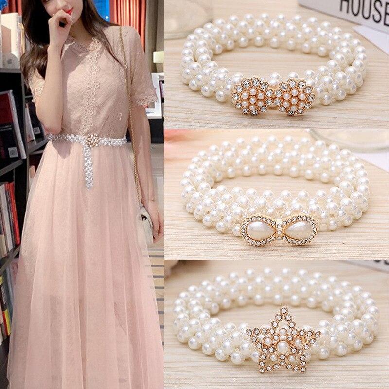 Han edition ms pearl 2020, юбка на талию, пояс с цепочкой на талию, пояс, обтягивающий декоративный Модный женский сарафан